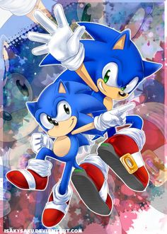 Modern & Classic Sonic the Hedgehog Sonic The Hedgehog, Silver The Hedgehog, Shadow The Hedgehog, Hedgehog Art, Sonic Generations, Classic Sonic, Sonic Franchise, Video Game Art, Video Games