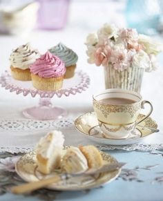Afternoon tea of pale pinks, blues, yellows and neutrals provides inspiration for a soft and tasty palette.