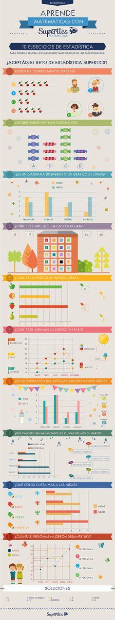 Lo mejor para combatir el frío es aceptar este reto de 10 ejercicios de estadística para niños de primaria :) #estadística #matemáticas #niños #primaria