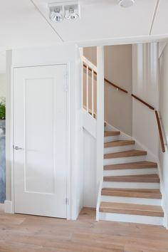 Hall tight nationwide A look inside at Angele Garden wall bungalow country style Mirror with wooden edge rural hall Wicker garden furniture rural garden at bungalow hoffz – Christian – Rural garden terrace bungalow Staircase Storage, Staircase Design, Loft Conversion Stairs, Open Trap, House Stairs, Under Stairs, New Homes, Stairways, Sweet Home