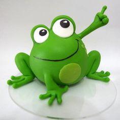 Fimo Polymer Clay, Polymer Clay Ornaments, Polymer Clay Animals, Miniature Crafts, Miniature Dolls, Frog Birthday Party, Safari Cakes, Fondant Animals, Mini Fairy Garden
