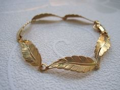 Antique style Leaf Bracelet by Leah Jewelry Designs
