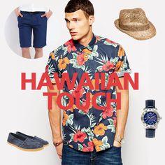 Ηawaiian touch!  #summer #menfashion #style Men Casual, Touch, Mens Fashion, Blouse, Summer, Mens Tops, Women, Style, Moda Masculina