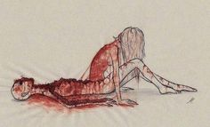 Illustration art blood girl sad anxiety body fear watercolor skin feelings ripped problems psychology weakness philosophy depressive metaphor being yourself Background Cool, Depression Quotes, Depression Art, Depression Awareness, Fighting Depression, Dark Art, Art Paintings, Illustration Art, Frases