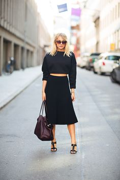black & cropped. fab. Charlotte in Stockholm.