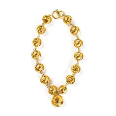 9e6cbdb01975 Chanel Double C Ball Necklace. The Vintage Contessa   Times Past