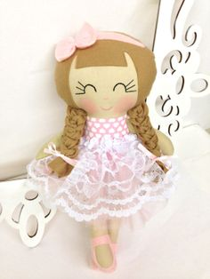 Princess Dolls Plush Soft Doll Handmade Dolls by SewManyPretties, $48.00 #birthdaygirl