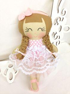 Princess Dolls Plush Soft Doll Handmade Dolls by SewManyPretties, $48.00 #giftsforgirls #girlfirstbirthday #princessparty