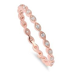 Stackable Eternity Ring Clear Cubic Zirconia Rose Gold-Tone Plated Sterling Silver 2MM Size 4 CloseoutWarehouse http://www.amazon.com/dp/B00CHX5WFQ/ref=cm_sw_r_pi_dp_stqBvb1C6TDGE