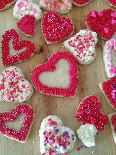 Valentine Sugar Cookies - Follow @ thepreppyhostess.blogspot.com