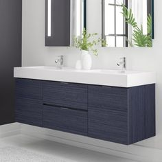 Looking for Tenafly 60 Wall-Mounted Double Bathroom Vanity Set Wade Logan ? Check out our picks for the Tenafly 60 Wall-Mounted Double Bathroom Vanity Set Wade Logan from the popular stores - all in one. Single Bathroom Vanity, Small Bathroom, Master Bathroom, Bathroom Vanities, Bathroom Plants, Bathroom Renos, Bathroom Purple, Bathroom Cabinetry, Mosaic Bathroom