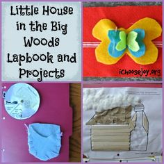 Little House in the Big Woods Lapbook and Projects #homeschooling