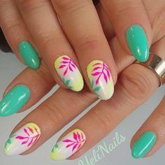 Colorful Nail Designs, Beautiful Nail Designs, Simple Nail Designs, Fingernail Designs, Nail Polish Designs, Nail Art Designs, Spring Nail Art, Spring Nails, Cute Nails