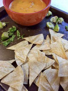 Homemade Healthy Fat Free Baked Tortilla Chips - Very Veganish