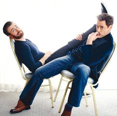 RDJ and Chris Evans
