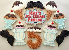 1 Dozen Ice Cream Parlor Birthday Cookies by SugaredHeartsBakery, $42.00