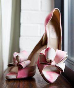 Valentino #weddingshoes - looks like watercolor