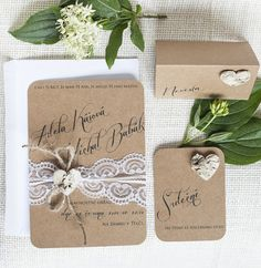 Svatební oznámení Srdce z kůry II Rustic Wedding, Wedding Day, Lace Wedding Invitations, Wedding Announcements, Marry Me, Wedding Accessories, Place Card Holders, Gift Wrapping, Decor