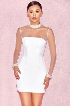 embellished bandage dress