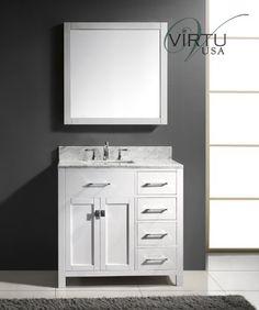 Virtu USA MS-2136R-WMSQ-WH 36-Inch Caroline Parkway Single Square Sink Bathroom Vanity White For Sale https://modernbathroomvanitiesreviews.info/virtu-usa-ms-2136r-wmsq-wh-36-inch-caroline-parkway-single-square-sink-bathroom-vanity-white-for-sale/