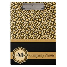 Jaguar Styled Clip Board Clipboard.  www.zazzle.com/designsbydonnasiggy* - Please share this web address with your family and friends. Thank you for shopping in my store.  #office #business #zazzle #clipboards