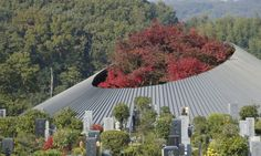 Breathtaking Japanese cemetery hall gracefully blends architecture with nature   Inhabitat - Green Design, Innovation, Architecture, Green Building