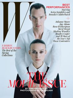 Best Performances February 2015: See All 7 W Magazine Covers - Benedict Cumberbatch and Keira Knightley