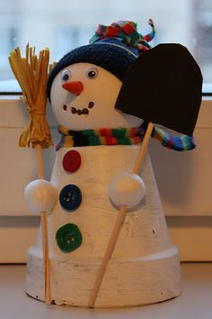 snowman.....I like the beads for his arms.  I would make it differently but cute idea.
