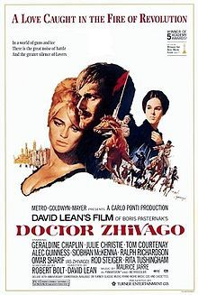 Doctor Zhivago - another classic by David Lean.  I must have seen this at least three or four  times in a small fleapit cinema in the city when I was about 16!!!