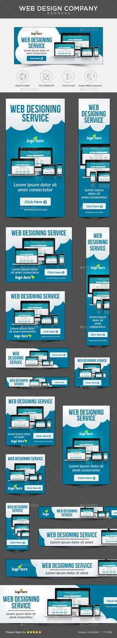 Web Design Banners Template PSD   Download: http://graphicriver.net/item/web-design-banners/11008249?ref=ksioks