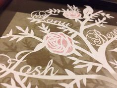 Family tree papercut