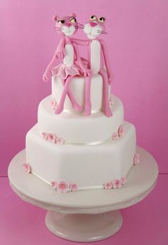 the pink panther cake