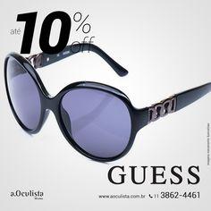 Óculos de Sol Guess. Adivinha ?! Com 10% de desconto.  Compre em 10x Sem Juros e frete grátis nas compras acima de R$400,00. 👉 www.aoculista.com.br/guess  #aoculista #guess #glasses #sunglasses #eyeglasses #oculos
