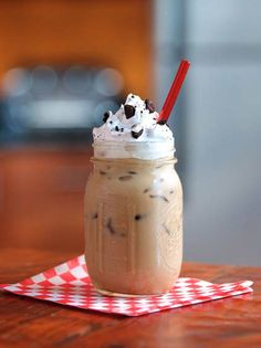Chocolate Cream Cookie Sandwich Iced Coffee by TV Chef Jeff Mauro