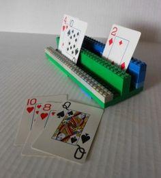DIY kaarthouder maken van Lego
