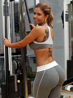 India Girl in Grey Yoga Pants