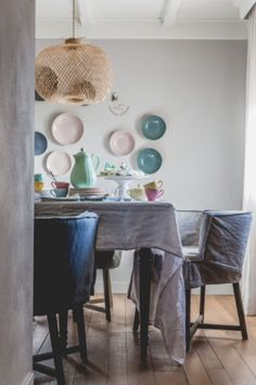 "This cheerful dining area is from our feature ""Merry Matters"""