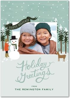 Rifle Paper holiday cards from Tinyprints. Just as cute as the customized ones, but affordable! :)