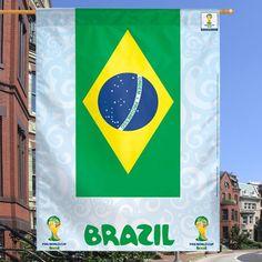 """Brazil World Cup 2014 WinCraft 27"""" x 37"""" Vertical Flag - $7.99"""