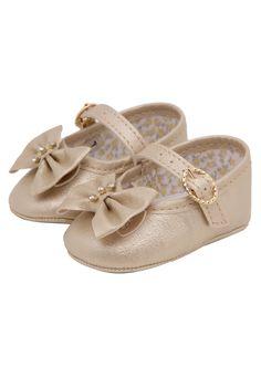 Sapato Pimpolho Infantil Laço Dourado - Marca Pimpolho