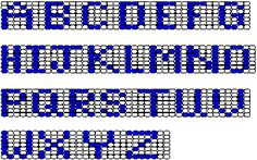 Darling Make Alphabet Friendship Bracelets Ideas. Wonderful Make Alphabet Friendship Bracelets Ideas. Bead Loom Patterns, Peyote Patterns, Beading Patterns, Kandi Patterns, Embroidery Patterns, Alphabet Beads, Embroidery Alphabet, Alphabet Charts, Letter Patterns