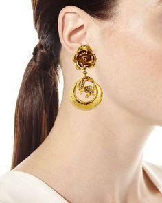 Y3YAN Jose & Maria Barrera Golden Flower Clip-On Earrings