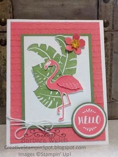 Creative Stampin' Spot: Stampin Friends June Blog Hop - SU - Pop of Paradise