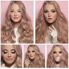 Ash rose gold blonde