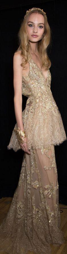 -Elie Saab Fall 2015 couture Backstage stylebistro.com.<3