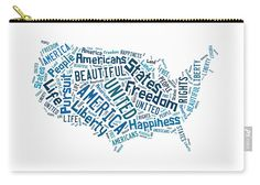 United States Of America Map Art Carry All Pouch.