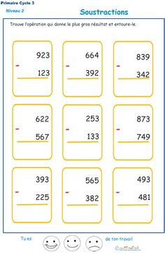 Multiplications to print for pupils of and of primary Cycle 3, Abacus Math, Council Of Europe, French Kids, Math Multiplication, Fractions, French Expressions, Learn Korean, Math For Kids