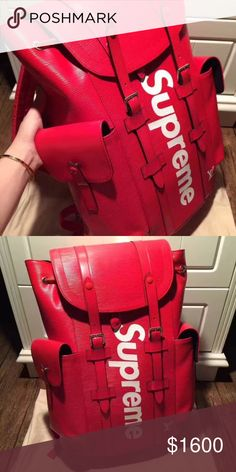 Louis Vuitton x Supreme backpack BNIB with tags . Ask for more details Louis Vuitton Bags Backpacks