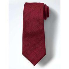 Banana Republic Mens Textured Silk Linen Nanotex Tie ($60) ❤ liked on Polyvore featuring men's fashion, men's accessories, men's neckwear, ties, modern red, mens red tie, mens linen ties, mens ties and mens silk ties