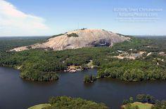 Stone Mountain Park, aerial view